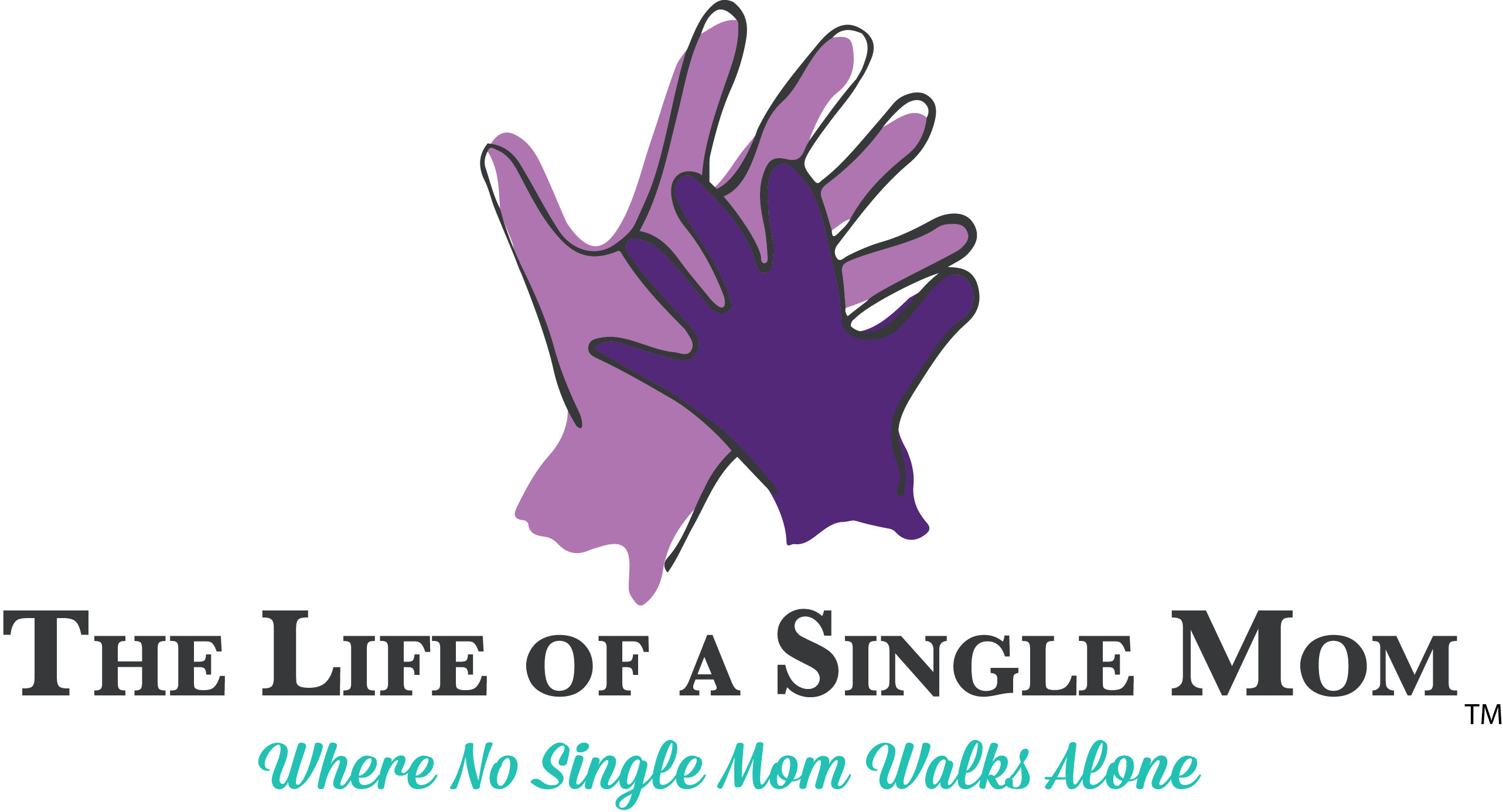 The Life of a Single Mom Sticky Logo