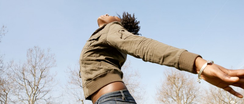 woman jumping in the air free